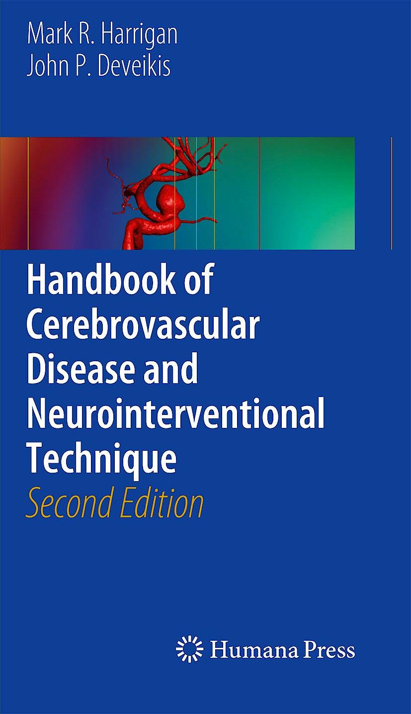 Portada del libro 9781617799457 Handbook of Cerebrovascular Disease and Neurointerventional Technique (Contemporary Medical Imaging, Vol. 1)