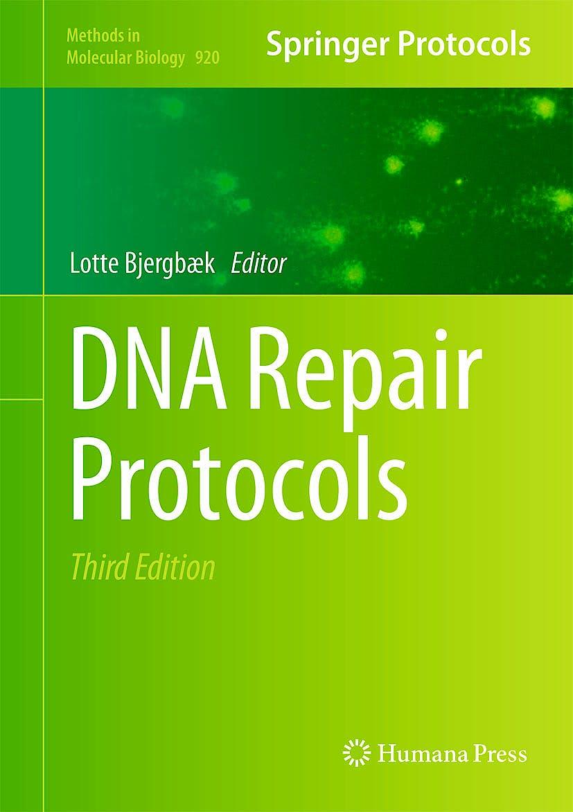 Portada del libro 9781617799976 Dna Repair Protocols (Methods in Molecular Biology, Vol. 920)