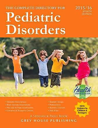 Portada del libro 9781619255517 Complete Directory for Pediatric Disorders, 2015/16