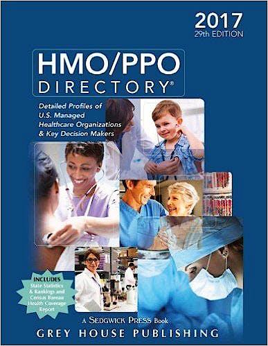 Portada del libro 9781619259331 Hmo/ppo Directory 2017