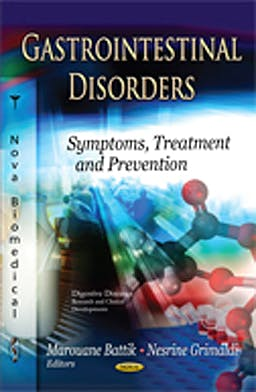 Portada del libro 9781621009979 Gastrointestinal Disorders. Symptoms, Treatment and Prevention
