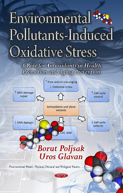 Portada del libro 9781624177699 Environmental Pollutants-Induced Oxidative Stress. a Role for Antioxidants in Health Promotion & Aging Prevention (Environmental Health -- Physical…