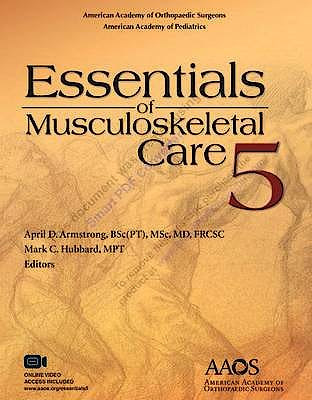 Portada del libro 9781625524157 Essentials of Musculoskeletal Care + Videos Online