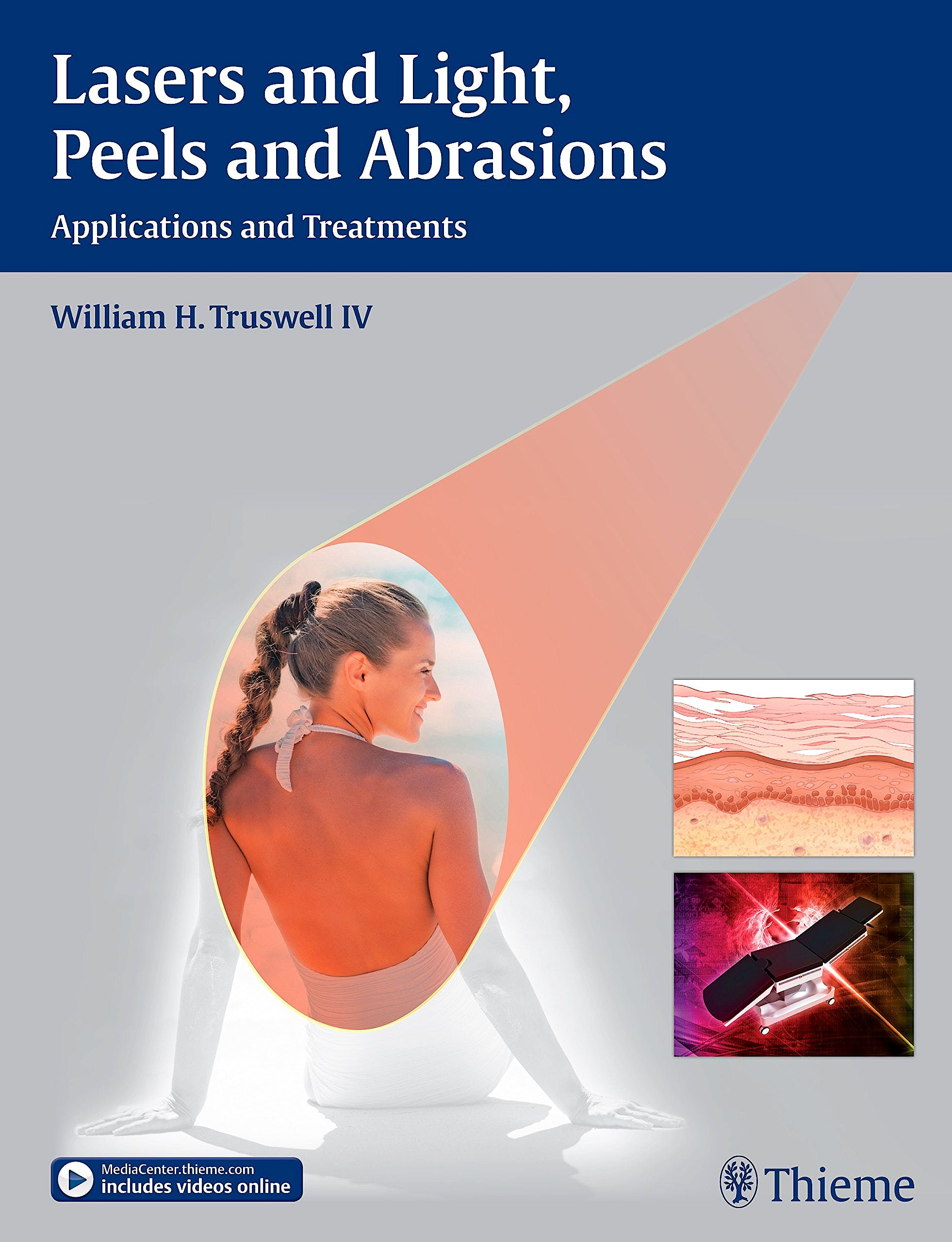Portada del libro 9781626230019 Lasers and Light, Peels and Abrasions. Applications and Treatments + Videos Online