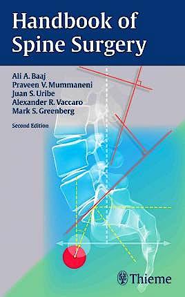 Portada del libro 9781626231634 Handbook of Spine Surgery