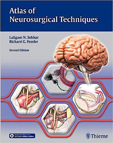 Portada del libro 9781626233881 Atlas of Neurosurgical Techniques, 2 Vols.