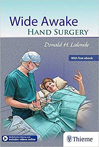 Portada del libro 9781626236622 Wide Awake Hand Surgery (Book + Ebook)