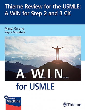 Portada del libro 9781626239258 Thieme Review for the USMLE. A WIN for Step 2 and 3 CK