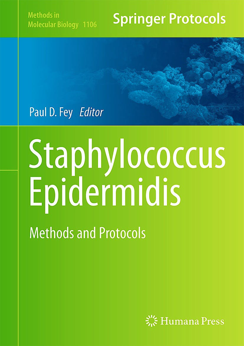 Portada del libro 9781627037358 Staphylococcus Epidermidis. Methods and Protocols (Methods in Molecular Biology, Vol. 1106)