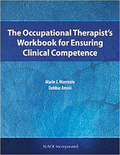 Portada del libro 9781630910495 The Occupational Therapist's Workbook for Ensuring Clinical Competence