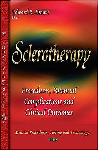 Portada del libro 9781633216198 Sclerotherapy: Procedures, Potential Complications and Clinical Outcomes