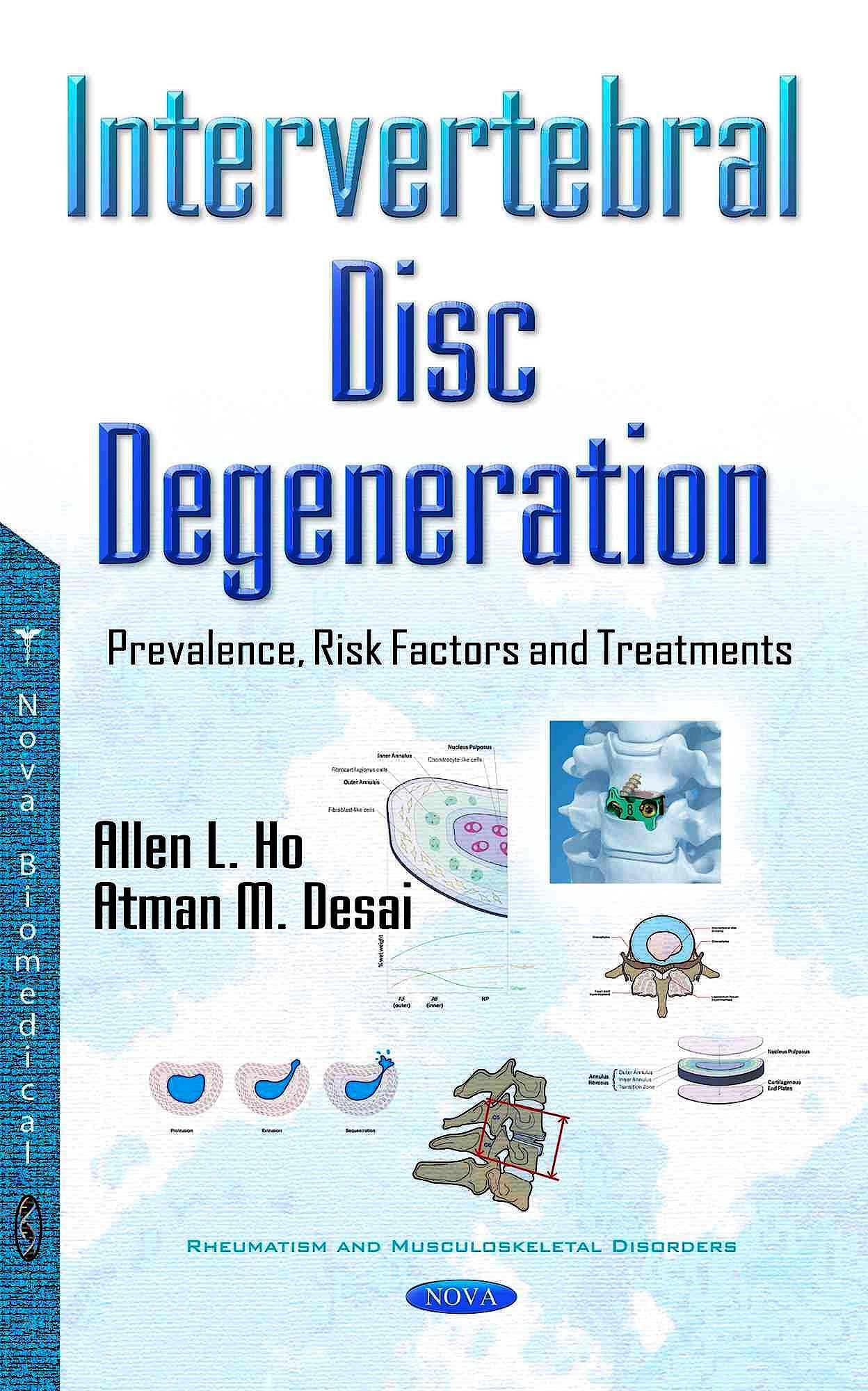 Portada del libro 9781634858298 Intervertebral Disc Degeneration: Prevalence, Risk Factors and Treatments