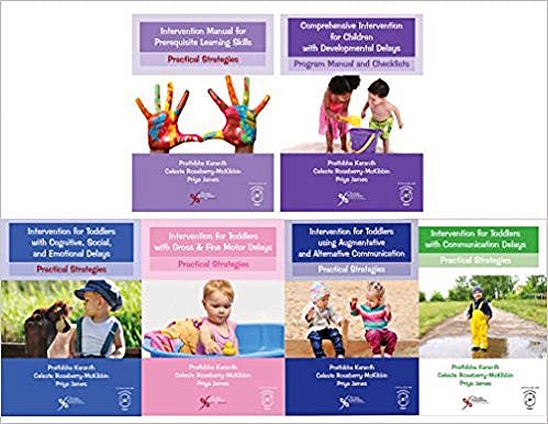 Portada del libro 9781635500035 Comprehensive Intervention for Children with Developmental Delays and Disorders. Practical Strategies for Toddlers. 6 Books
