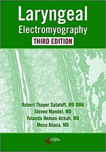 Portada del libro 9781635500165 Laryngeal Electromyography