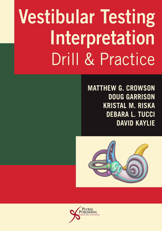 Portada del libro 9781635501056 Vestibular Testing Interpretation. Drill and Practice
