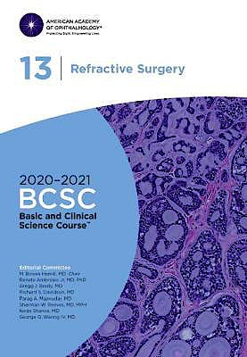 Portada del libro 9781681043692 Refractive Surgery. Basic and Clinical Science Course 2020-2021, Section 13