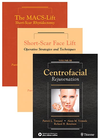 Portada del libro 9781684200450 The MACS-Lift + Short Scar Face Lift + Centrofacial Rejuvenation (3 Volume Set)