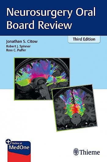 Portada del libro 9781684201266 Neurosurgery Oral Board Review