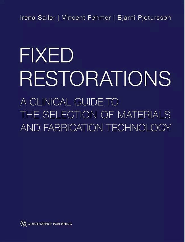 Portada del libro 9781786980274 Fixed Restorations. A Clinical Guide to the Selection of Materials and Fabrication Technology