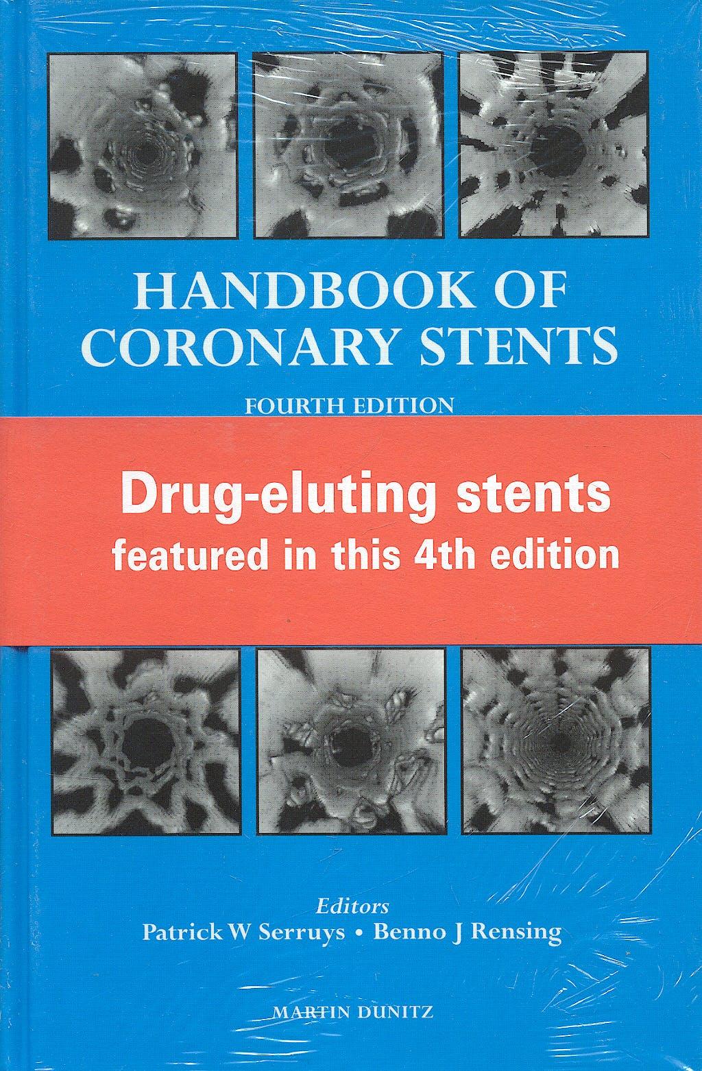 Portada del libro 9781841840932 Handbook of Coronary Stents