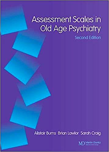 Portada del libro 9781841841687 Assessment Scales in Old Age Psychiatry