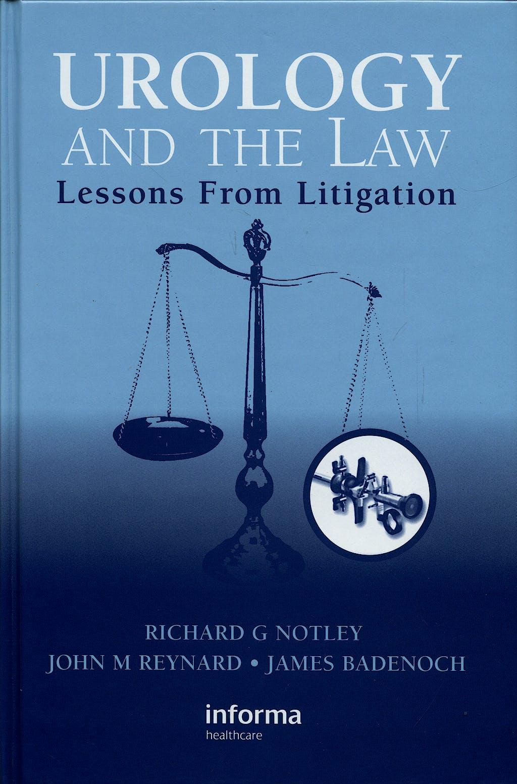 Portada del libro 9781841845166 Urology and the Law