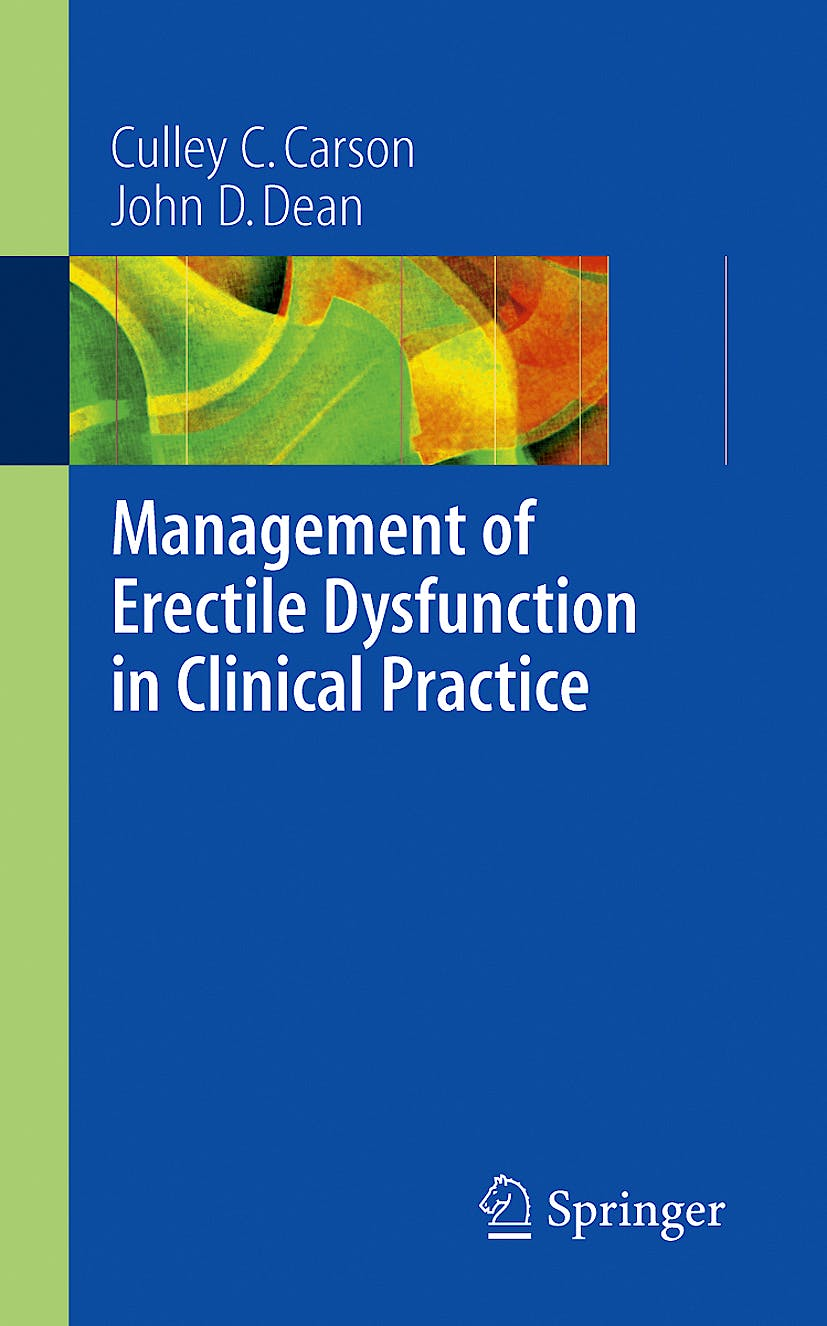 Portada del libro 9781846283987 Management of Erectile Dysfunction in Clinical Practice