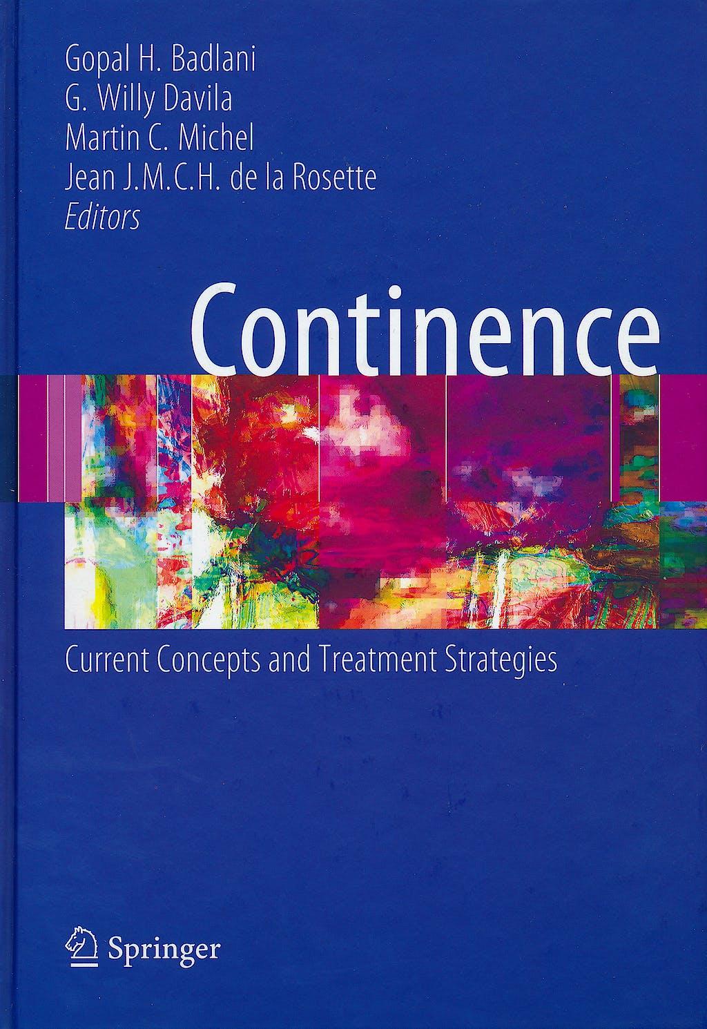 Portada del libro 9781846285103 Continence. Current Concepts and Treatment Strategies (Hardcover)