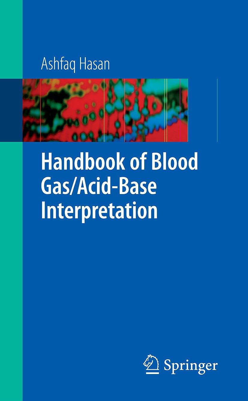 Portada del libro 9781848003330 Handbook of Blood Gas/acid-Base Interpretation