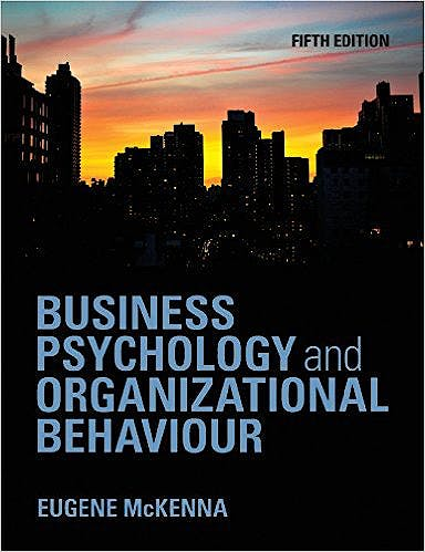 Portada del libro 9781848720350 Business Psychology and Organizational Behaviour: An Introductory Text