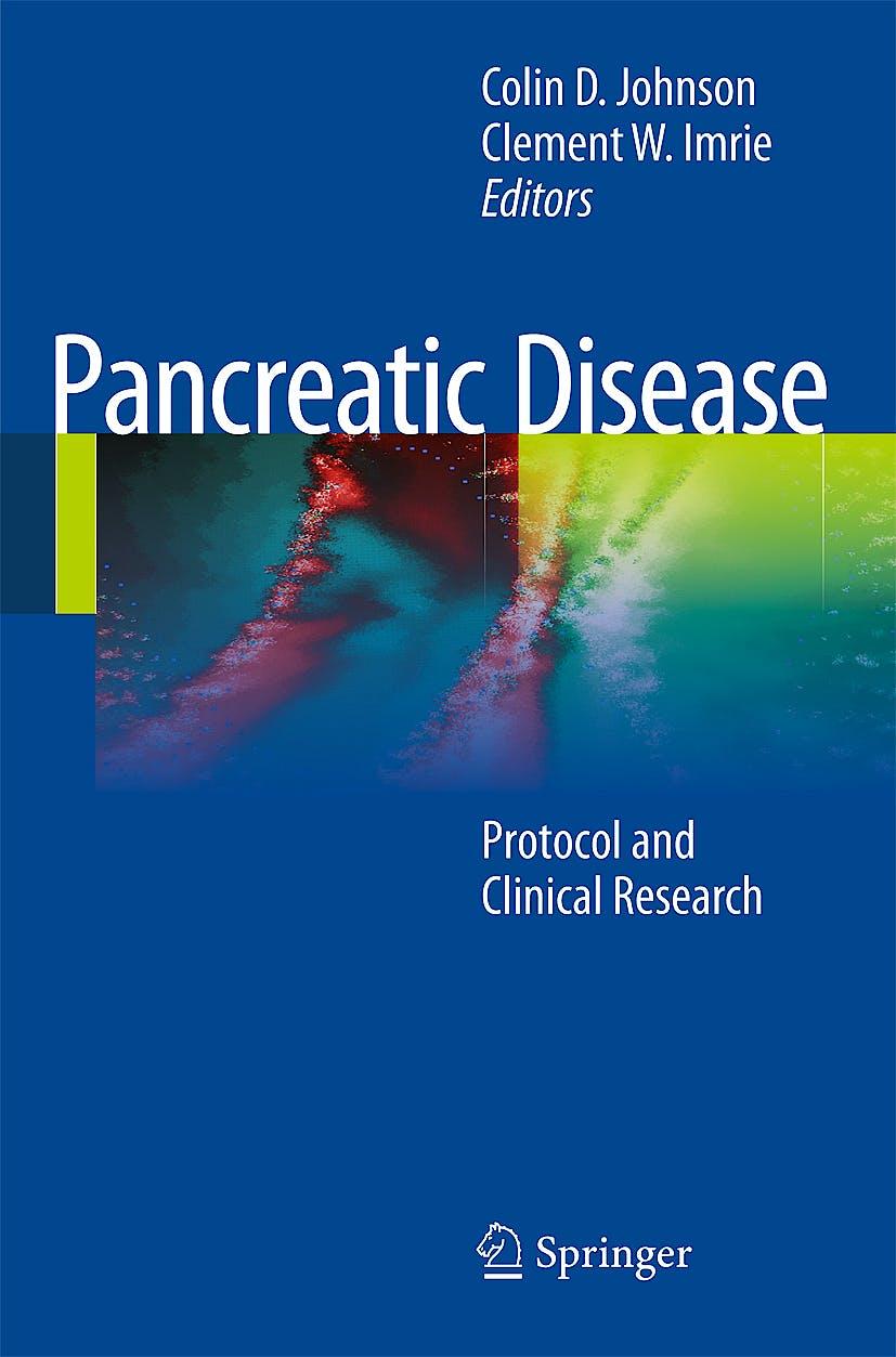 Portada del libro 9781848821170 Pancreatic Disease. Protocol and Clinical Research