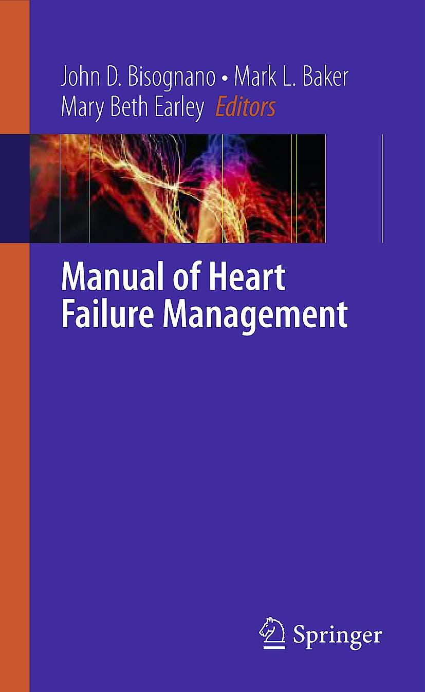 Portada del libro 9781848821842 Manual of Heart Failure Management