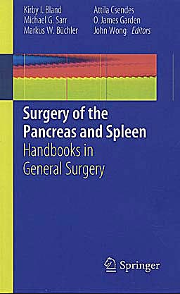Portada del libro 9781849963688 Surgery of the Pancreas and Spleen. Handbooks in General Surgery