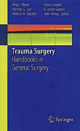 Portada del libro 9781849963749 Trauma Surgery. Handbooks in General Surgery