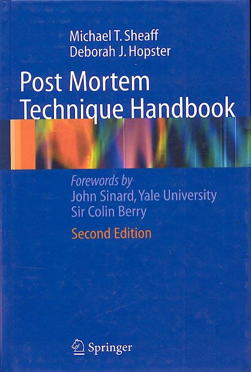 Portada del libro 9781852338138 Post Mortem Technique Handbook