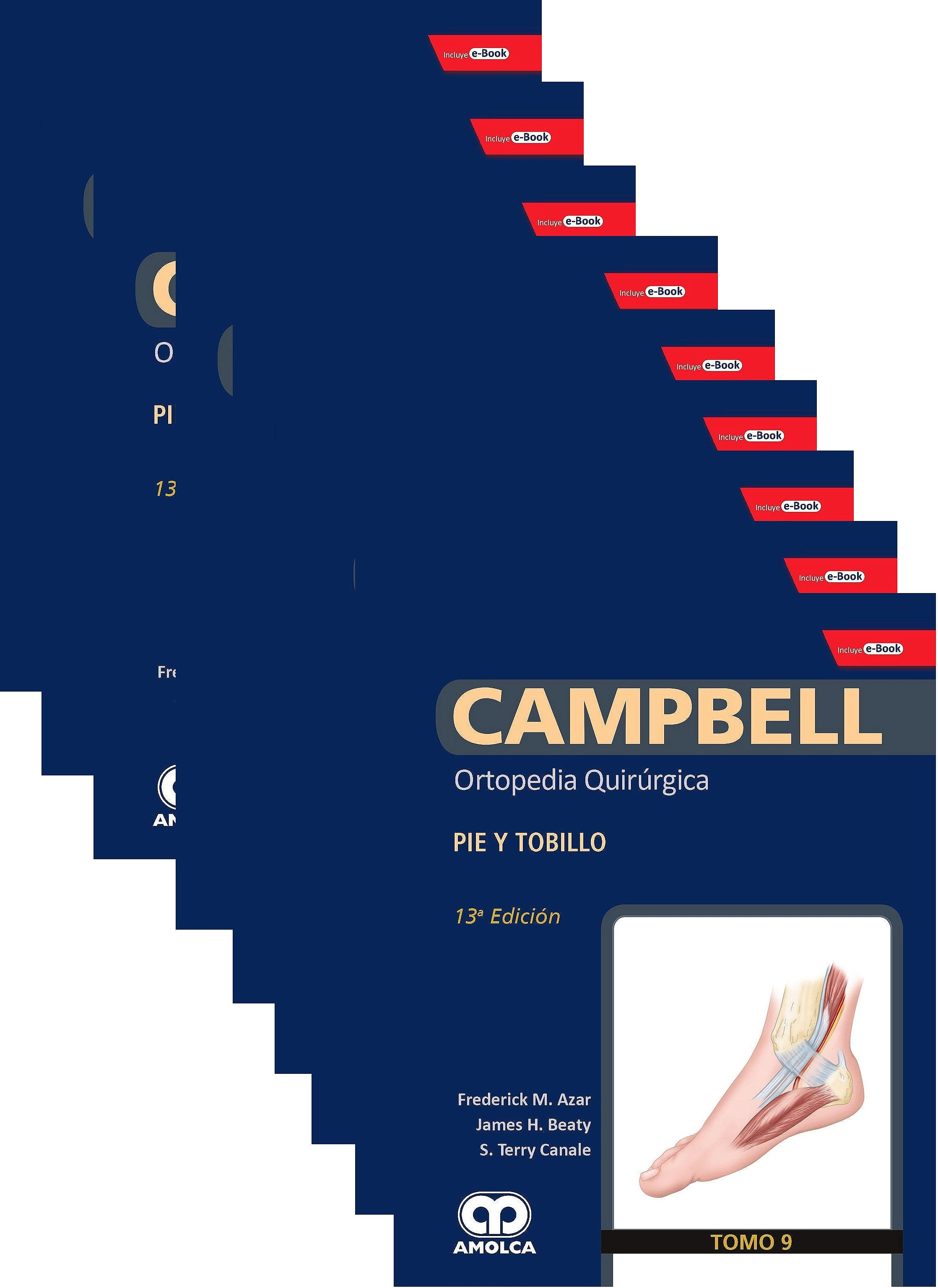 Portada del libro 9781852694760 CAMPBELL Ortopedia Quirúrgica, 9 Vols. + E-Book y Videos