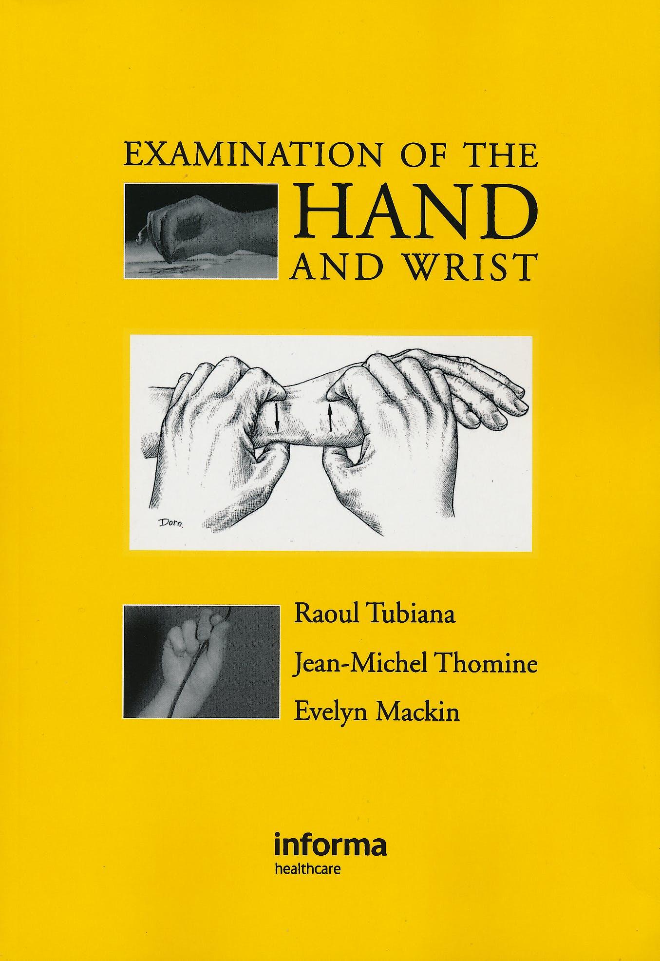 Portada del libro 9781853175442 Examination of the Hand and Wrist