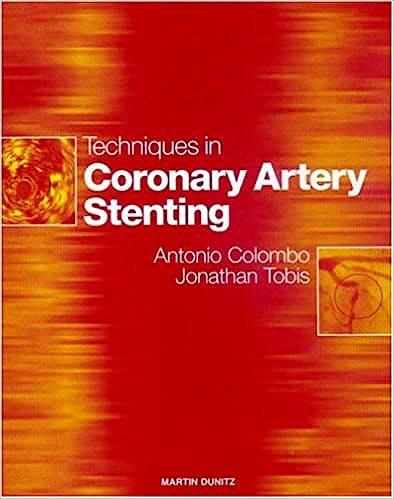 Portada del libro 9781853177163 Techniques in Coronary Artery Stenting