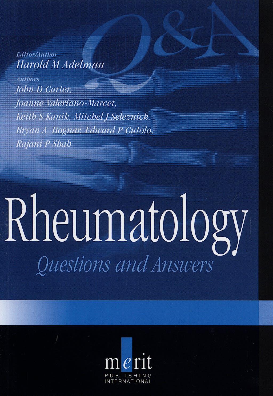 Portada del libro 9781873413722 Rheumatology. Questions and Answers