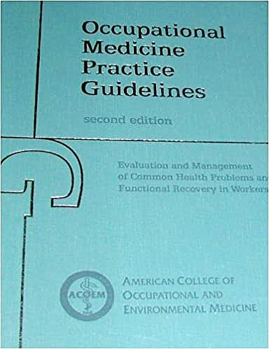 Portada del libro 9781883595425 Occupational Medicine Practice Guidelines Evaluation and Management Of