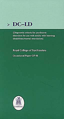 Portada del libro 9781901242614 Dc-Ld: Diagnostic Criteria for Psychiatric Disorders for Use with Adults with Learning Disabilities/mental Retardation