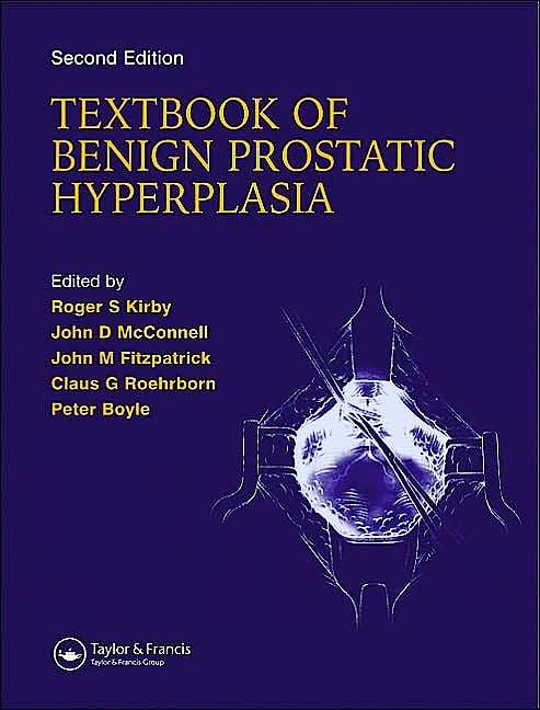 Portada del libro 9781901865554 Textbook of Benign Prostatic Hyperplasia