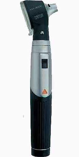 Otoscopio Heine Mini 3000 XHL con Mango a Pilas, con 5 Espéculos Desechables de 2,5 y 4 mm. Ø, con Baterías