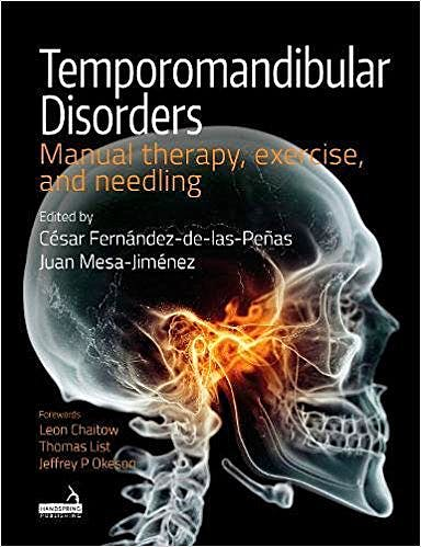 Portada del libro 9781909141803 Temporomandibular Disorders. Manual Therapy, Exercise and Needling