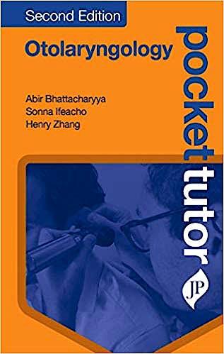 Portada del libro 9781909836884 Pocket Tutor Otolaryngology
