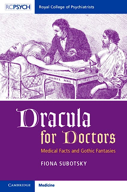 Portada del libro 9781911623298 Dracula for Doctors. Medical Facts and Gothic Fantasies