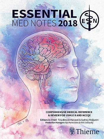 Portada del libro 9781927363393 Essential Med Notes 2018. Comprehensive Medical Reference and Review for USMLE II and MCCQE