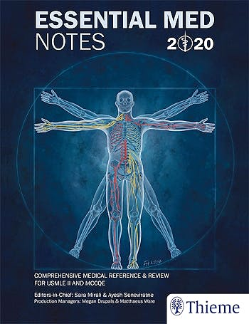 Portada del libro 9781927363676 Essential Med Notes 2020. Comprehensive Medical Reference and Review for USMLE II and MCCQE