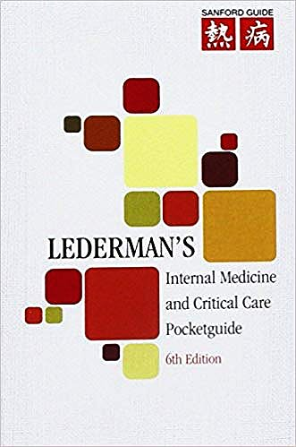 Portada del libro 9781930808980 Lederman's Internal Medicine and Critical Care Pocketguide (Sanford Guide)