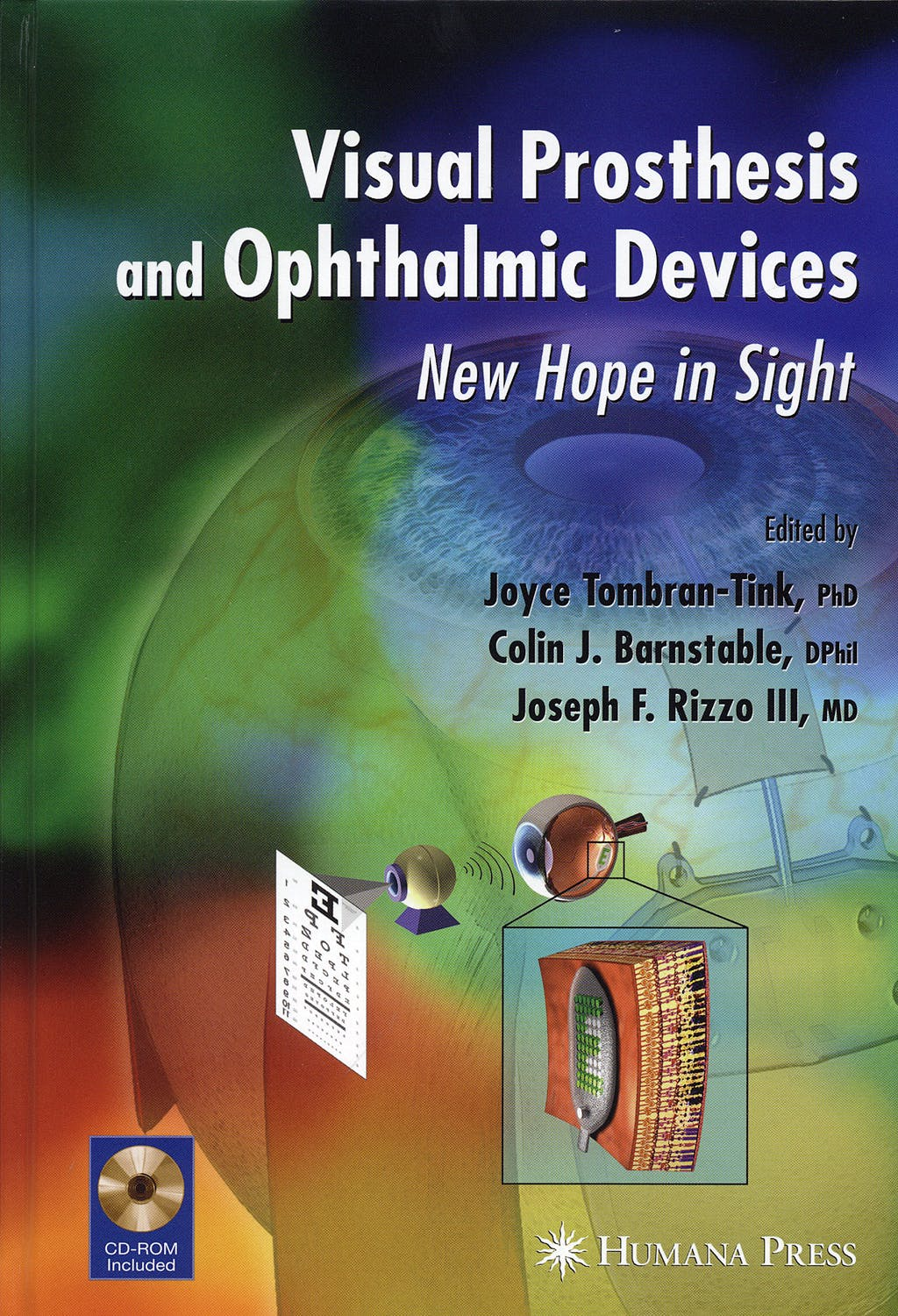 Portada del libro 9781934115169 Visual Prosthesis and Ophtalmic Devices. New Hope in Sight (Ophthalmology Research)
